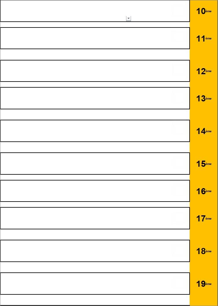 * Classement 10 à 19 - HOMMES - Loisirs/Intermédiaires (à avenir suivant le nombre de joueur)