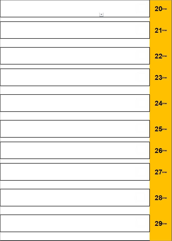 * Classement 20 à 29 - HOMMES - Loisirs/Intermédiaires (à avenir suivant le nombre de joueur)